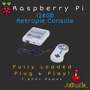 128GB RetroPie Console - Raspberry 3B+ - Plug & Play