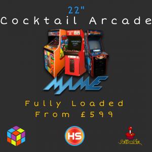 """22"""" Cocktail Arcade Machine - 2 Player"""
