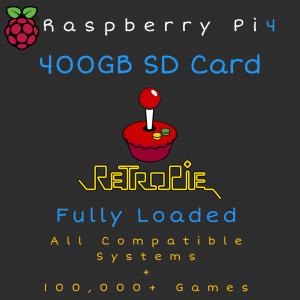 400GB RetroPie MicroSD Card for Raspberry Pi 4