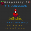 2TB Retropie DOWNLOAD + 16GB SD Card DOWNLOAD for Raspberry Pi 3B+ - 80+ Systems, 50,000+ Games - Plug & Play!