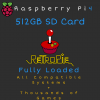 512GB RetroPie MicroSD Card for Raspberry Pi 4