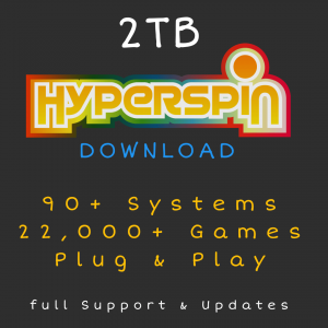 2TB Hyperspin Download - Over 91+ Systems & 22,000+ Games