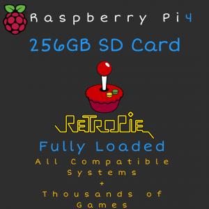 256GB RetroPie MicroSD Card for Raspberry Pi 4