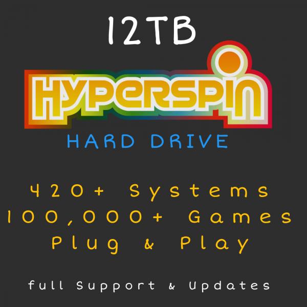 12TB Hyperspin Hard Drive