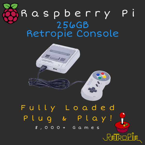 256GB RetroPie Console - Raspberry 3B+ - Plug & Play