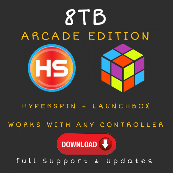 8TB Hyperspin + Launchbox CLOUD Drive - Arcade Edition