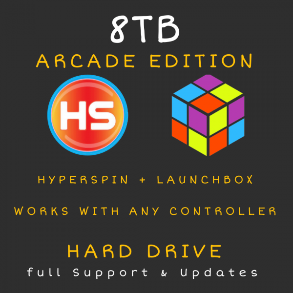 8TB Hyperspin + Launchbox HARD Drive - Arcade Edition