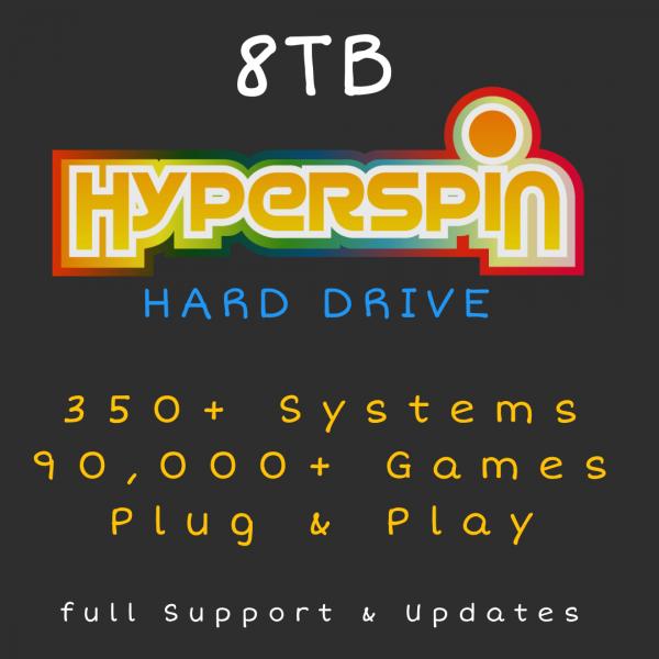 8TB Hyperspin Hard Drive