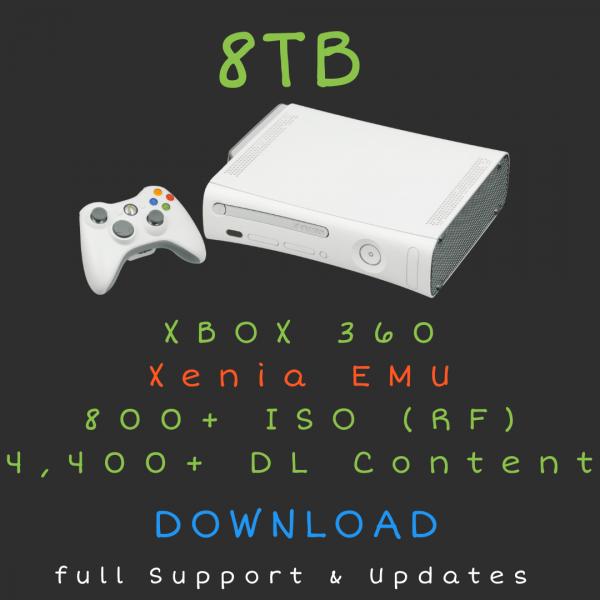 8TB XBOX 360 + DLC Download